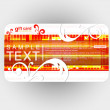Beautiful gift card — Image vectorielle