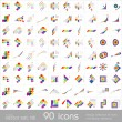 Design elements. Icons set — Stockvectorbeeld