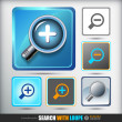 Search With Loupe. Icons set — Stock Vector