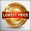 Lowest price guarantee golden label — Stock Vector #36105697