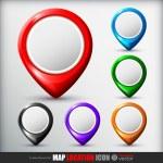 Map location icon — Stock Vector