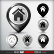 Home map location icon — Stockvector #36105787