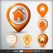 Home map location icon — Stockvector #36105861