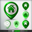 Home map location icon — Stockvector #36105863