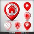 Stock Vector: Home map location icon