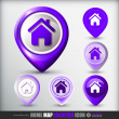 Home map location icon — Stockvector #36105891
