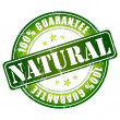 Natural guarantee stamp — Imagen vectorial