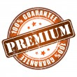Premium guarantee stamp. — Stock Vector