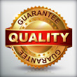 Quality guarantee golden label — Stock Vector #36106781