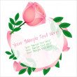 Beautiful pink rose card — Stock vektor