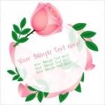 Beautiful pink rose card — Stock Vector