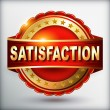 Satisfaction guarantee golden label — Imagens vectoriais em stock
