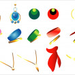 Set of jewelery. — Imagen vectorial