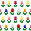 Pattern of tulips — Stock Vector