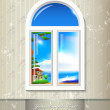 Window background.  — Stock Vector