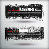 Oil pastel banners — Stock Vector