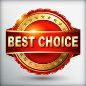 最もよい選択赤ラベル — ストックベクタ