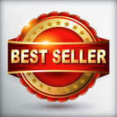 Best seller red label — Stockvektor