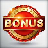 Bonus golden guarantee label — Stock Vector