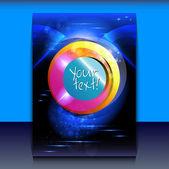 Flyer or brochure cover design — Vetorial Stock