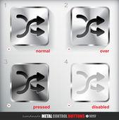 Metal Shuffle Button — Stock Vector