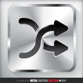 ButtonMetal Shuffle Button — Stock Vector