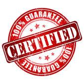 Certified guarantee stamp — ストックベクタ