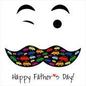 Carte de fête de l'heureux père. — Vecteur