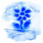 синий акварелью цветок. — Cтоковый вектор