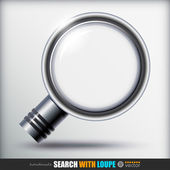 Search With Loupe icon — Vector de stock