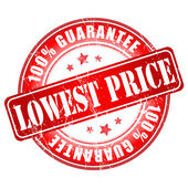Lowest price guarantee stamp. — Stock Vector