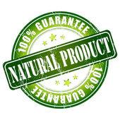 天然产物保证邮票 — 图库矢量图片
