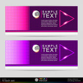 Colorful banners — Stock Vector