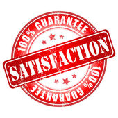 Satisfaction guarantee stamp — Cтоковый вектор