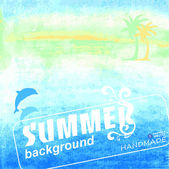 Summer abstract background — Stock Vector