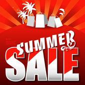 Sommar försäljning affisch — Stockvektor