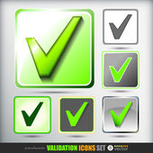 Validation icons set — Stock Vector