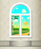 Window background — Stock Vector