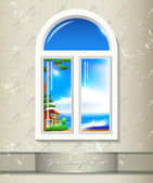 Pozadí okna — Stock vektor