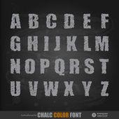 Handwritten chalk alphabet — Stock Vector