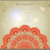 Vintage invitation card with lace ornament — Stock Vector