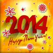 2014 Happy New Year card or background — Vector de stock