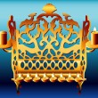 18th Century Poland Hanukkah Menorah. — Stock Vector