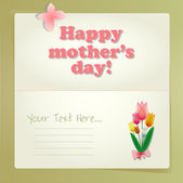 Happy Mothers Day card. — Stock Vector