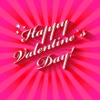 Happy Valentine's Day hand lettering card or background. — Stock Vector #37868849