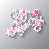 Happy Valentine's Day hand lettering card or background — Vector de stock