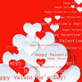 Heart Valentines Day background or card. — Stock Vector