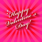 Happy Valentine's Day hand lettering card or background. — Stock Vector