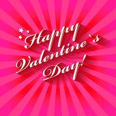 Feliz dia dos namorados mão lettering cartão ou plano de fundo. — Vetor de Stock