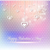 Happy Valentine's Day card or background. — Stock Vector